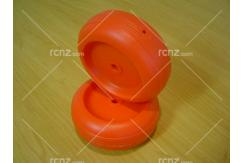 Modelair - 90mmx35mm Plastic Wheel Red Pair image