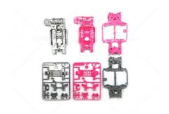 Tamiya - Ltd Edition MS Chassis Set Silver/Pink image