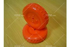 Modelair - 80mm Plastic Wheel Red Pair image