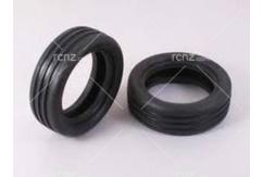 Tamiya - 2WD Wide Grooved F Tyres 60/19 image