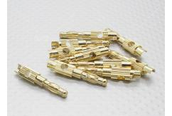 RCNZ - 4mm Gold Plated Banana Plug Pair (Male Only) image