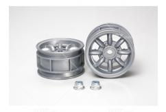 Tamiya - M Chassis 8-Spoke Silver Wheel (2pcs) image