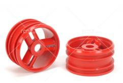 Tamiya - NDF-01 3 Spoke Wheels Red (2 pcs) image