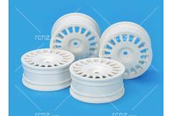 Tamiya - 24mm White Rally Dish Wheels 0 Offset (4 pcs) image