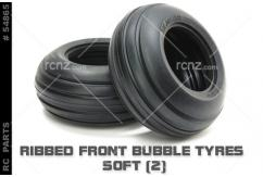Tamiya - Ribbed Front Bubble Tyres Soft (Pair) image