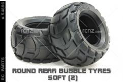 Tamiya - Round Rear Bubble Tyres Soft (Pair) image