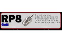 O.S -  #P8 (RP8) Turbo Glow Plug On-Road Cold image