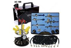 Fengda - Mini Air Compressor with 6 Assorted Airbrushes image