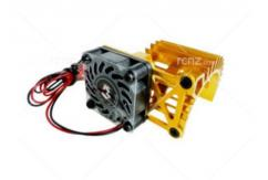 3Racing - Extended Motor Heat Sink with Fan - Gold image