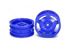 Tamiya - 4WD Buggy Blue Front Star Dish Wheels (2)   image
