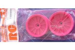 Tamiya - Monster Rear Wheels -Flur Pink  image
