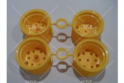 Tamiya - Blackfoot Yellow Wheel Set (4pcs) image