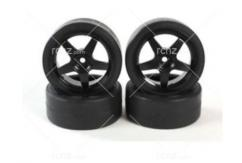 Tamiya - 1/10 TT-01D Tyre with Wheel Set (4pcs) image