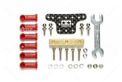 Tamiya - HG Mass Damper Set w/Ball Connectors(Block Weight/Carbon Plate) image