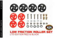 Tamiya - Mini 4WD Low Friction Roller Set - Red & Black image