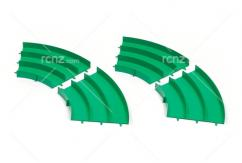 Tamiya - JC JR Circuit Curve Green (4 pcs) image