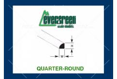 Evergreen - Styrene Quarter Round 1.00mm (5) image