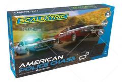 Scalextric - 1/32 American Police Chase Set (AMC Javelin Police Car v Dodge Challenger) image