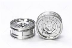 Tamiya - Matt Plated Silver Dish Wheels 26mm +2 (4pcs)  image