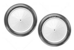 "Dubro - 3 1/2"" 1/8 Scale Vintage Wheels (Pair) image"