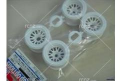 Tamiya - F-104 Mesh Wheels Rear Tyre White image