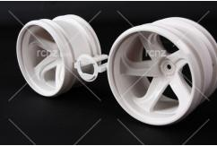 Tamiya - GF-01 White 5-Spoke Wheels (2) image