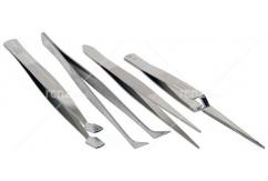 Proedge - Pro Tweezer 4 piece - 4.5 Inch with Flat Stamp image