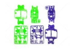 Tamiya - Ltd Edition MS Chassis Set Purple/Green image