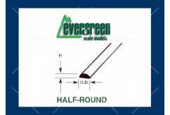 Evergreen - Styrene Half Round 35cm Long x 3.0mm (3) image