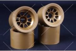 Tamiya - F-104 Mesh Wheels Rear Tyre Gold image
