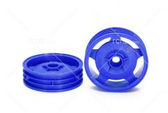 Tamiya - 2WD Buggy Blue Front Star Dish Wheels (2) image