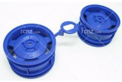 Tamiya - 2WD/4WD  Blue Buggy Rear Star Dish Wheels (2) image