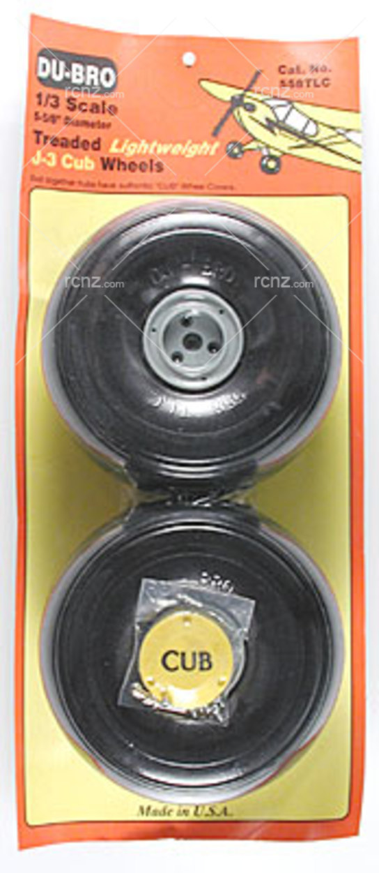 Dubro - J3 Cub Wheels 1/3 Threadlite image