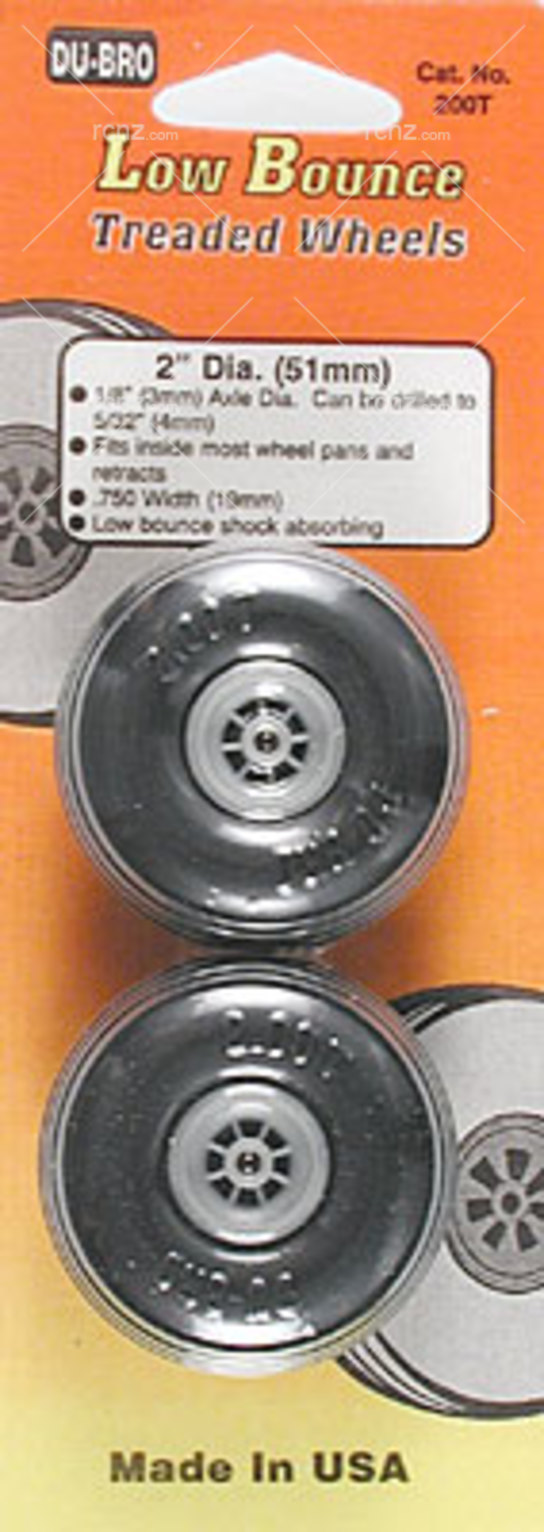 Dubro - 2 Dia/Threaded Surface Wheels image