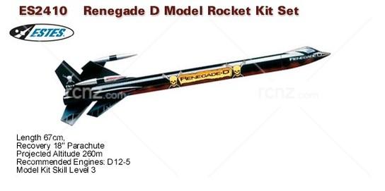 Estes - Renegade-D Tall Size Kit - RCNZ