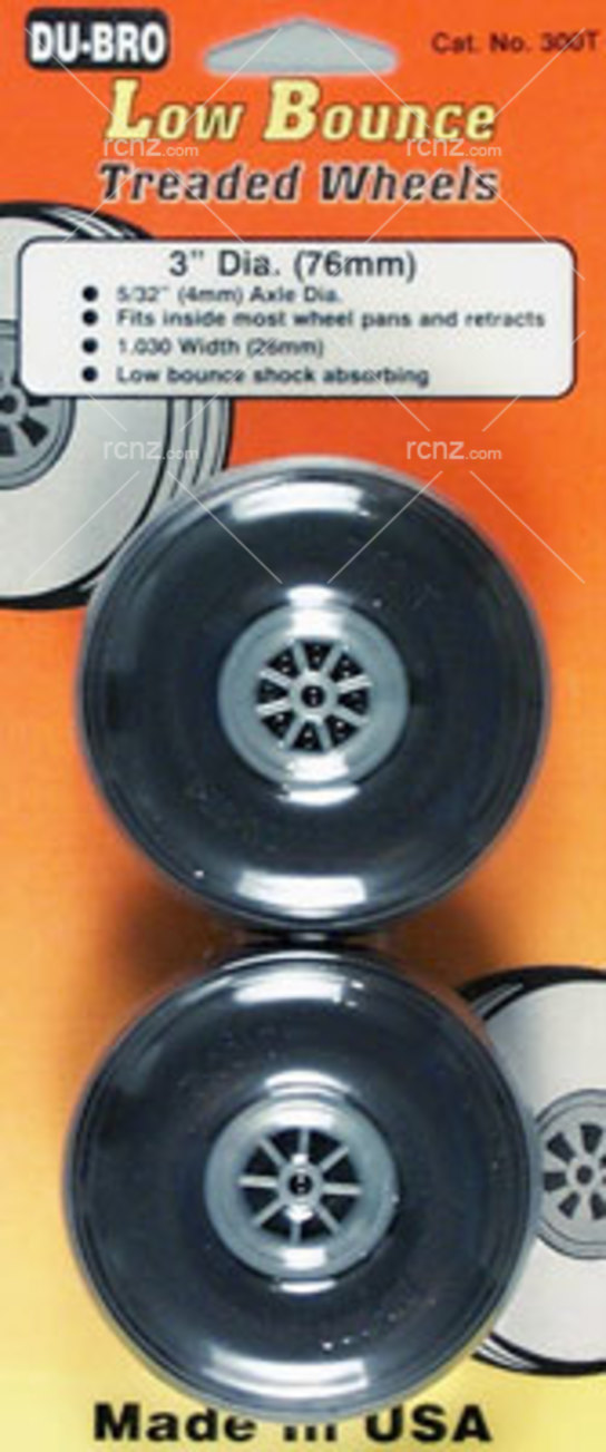 Dubro - 3 Dia/Threaded Surface Wheels image