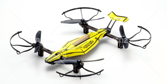 Kyosho - 1/18 Zephyr Dynamic Racing Drone Smashing Yellow RTF image