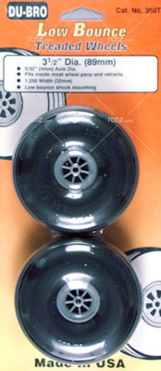 Dubro - 3 1/2 Dia/Threaded Surface Wheel image