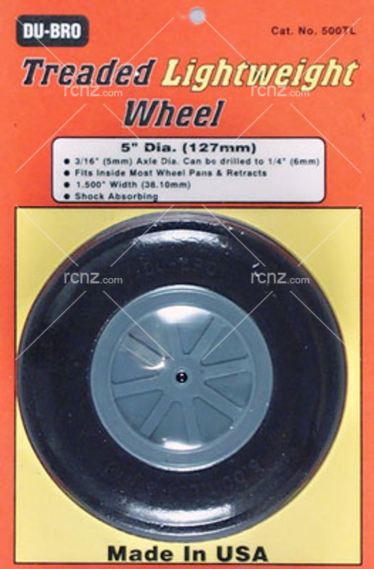 Dubro - Threaded Light Wheels -5 Inch image