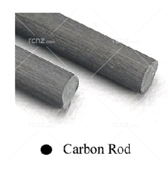 "Midwest - Carbon Fibre 24"" Rod .04 (1.0mm)  2PCS image"