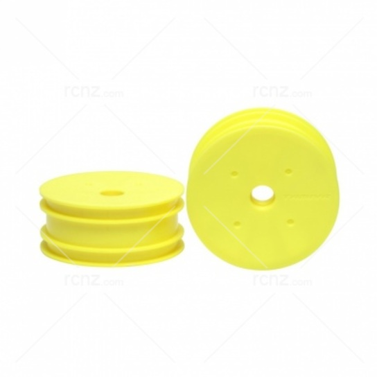 Tamiya - DN-01 Front Dish Fluro Yellow Wheels ( 2 pcs)  image