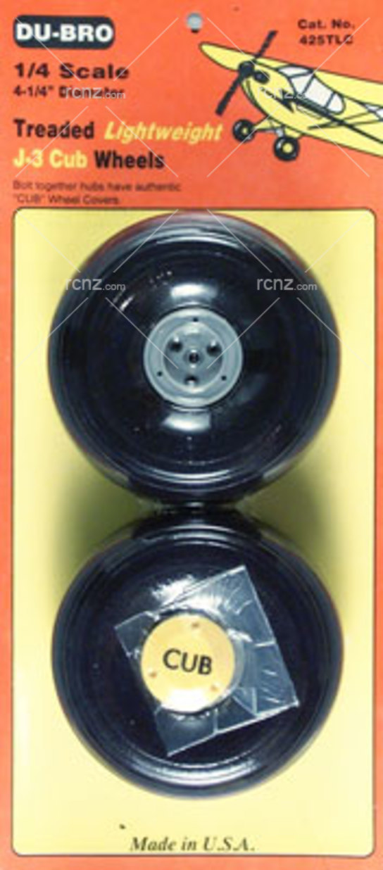 Dubro - J3 Cub Wheels 1/4 Thread Lite image