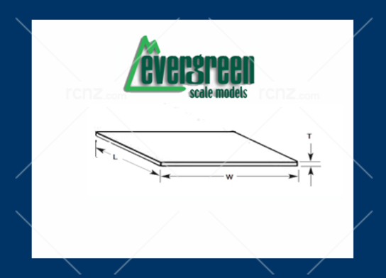 Evergreen - Styrene S Scale Passenger Car Siding 29 x 15cm x .75mm image