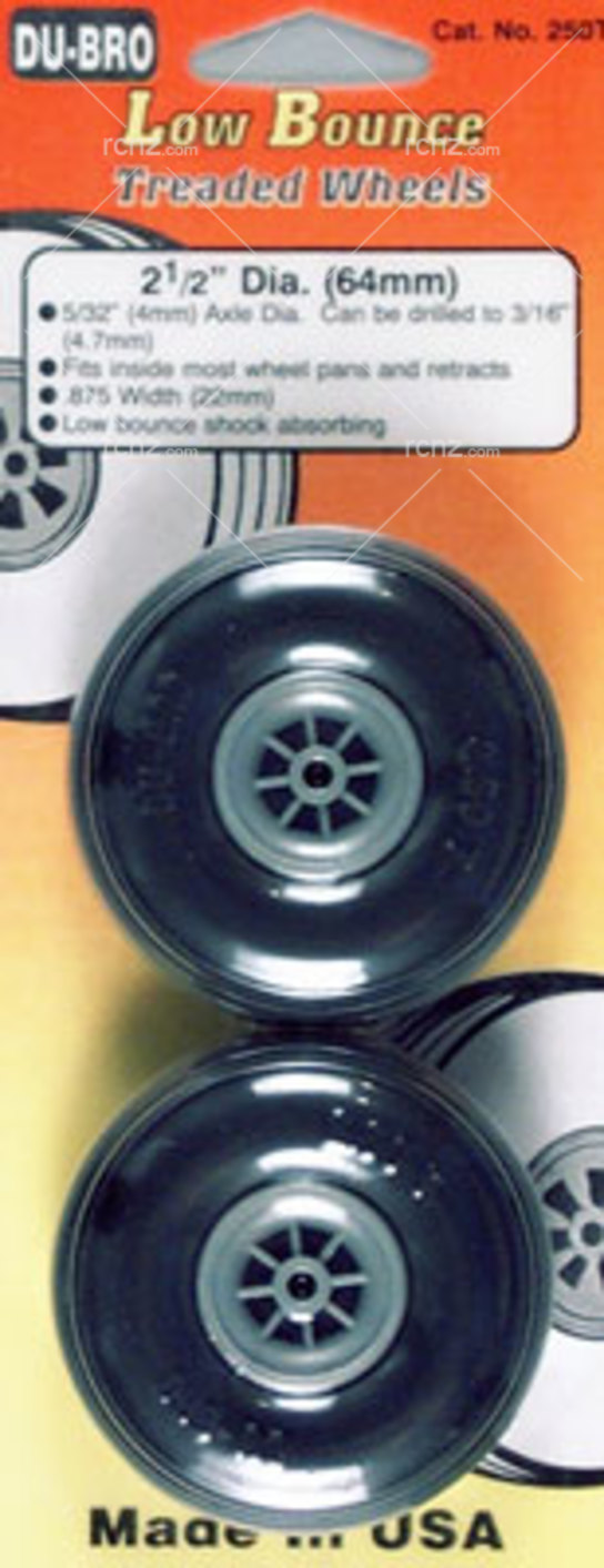 Dubro - 2-1/2 Dia/Threaded Surface Wheels  image