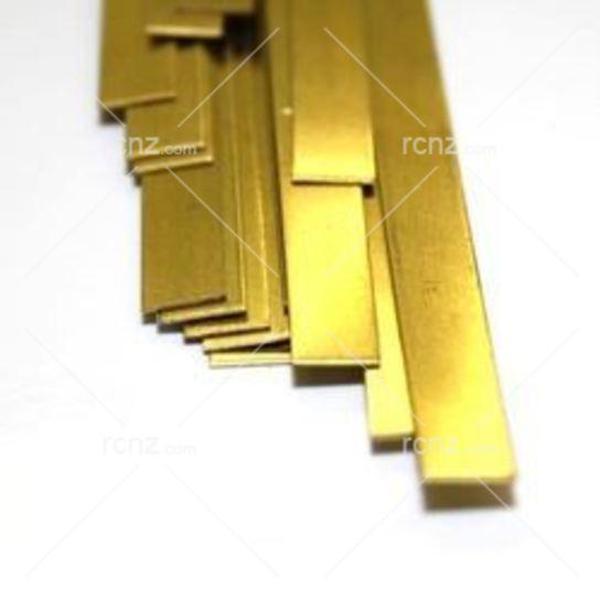 "12/"" Brass Strip .016 x 1//2/"" Pk1"