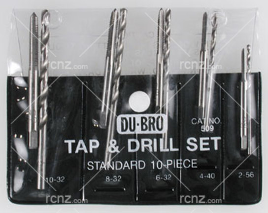 Dubro - 10PC Standard Tap/Drill Set image