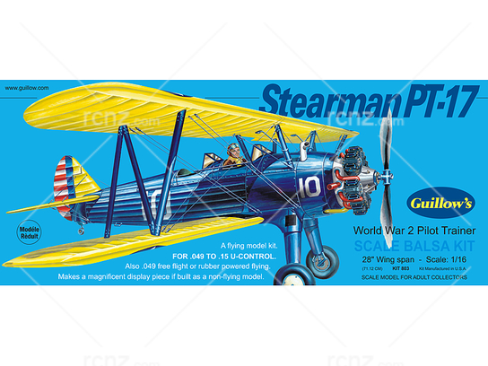 Guillow's - Stearman PT17 Balsa Kit image
