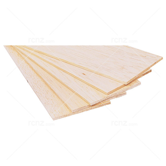 BNM - 1/4x4 Balsa Sheet 6.5x100x915mm (2) image