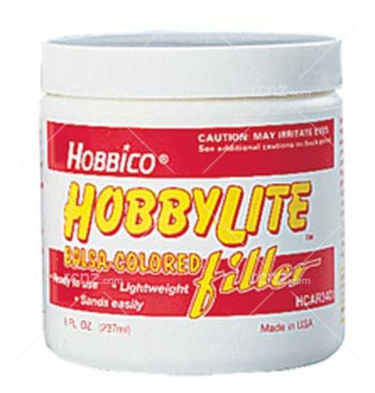 Great Planes - Hobbylite Filler White Colored 8oz image