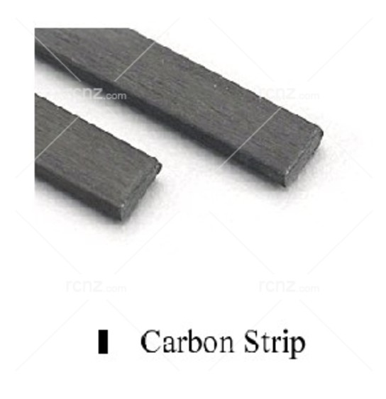"Midwest - Carbon Fibre 40"" Strip .5X.3mm 2PCS image"